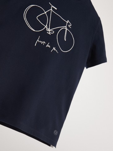 COTTON T-SHIRT WITH BICYCLE MOTIF