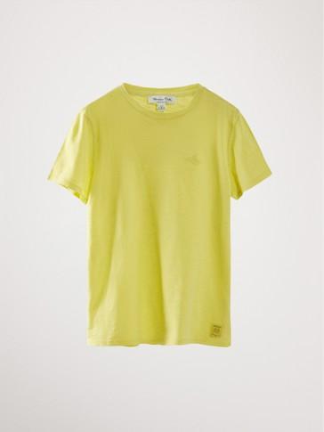 쇼트 슬리브 코튼 티셔츠