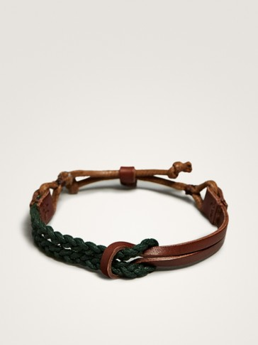 LEATHER BRACELET WITH KNOT DETAIL