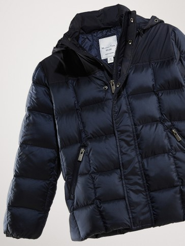 HOODED PUFFER DOWN JACKET