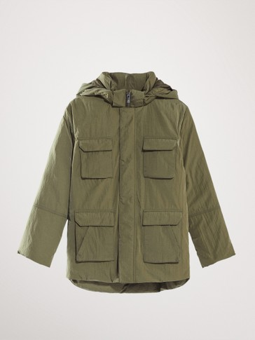 DOWN PARKA JACKET WITH FOUR POCKETS