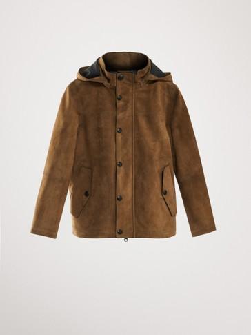가죽 후드 재킷