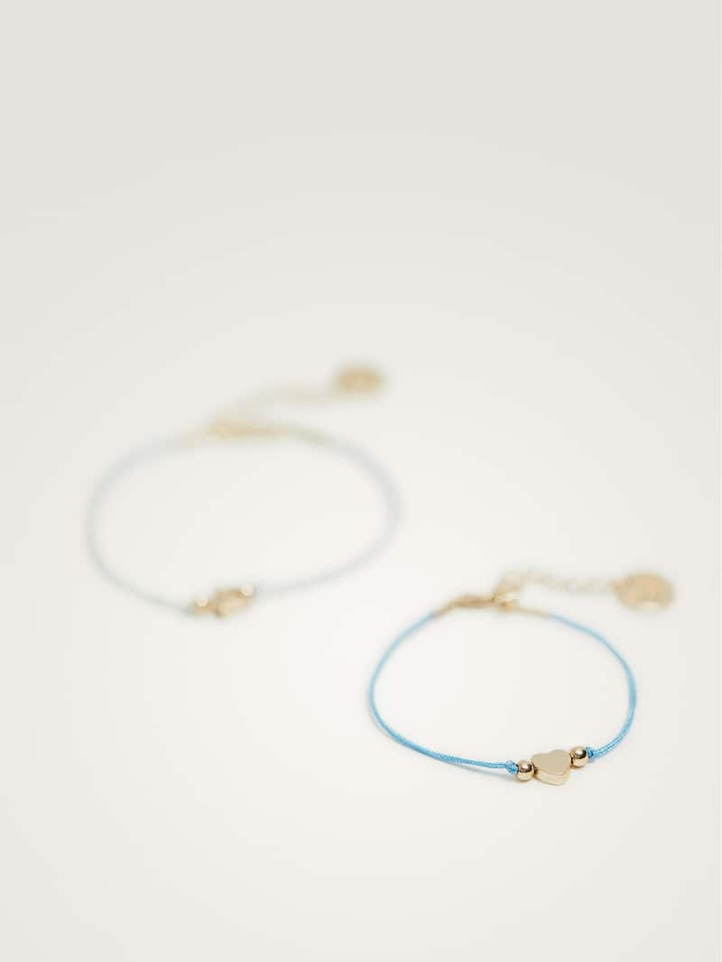 Pack Of Heart And Star Bracelets