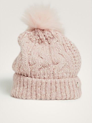 KNIT HAT WITH POMPOM DETAIL