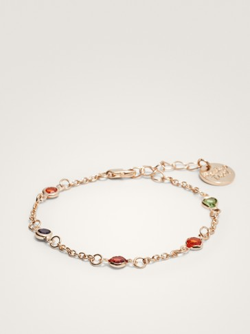 COLOURED RHINESTONE BRACELET