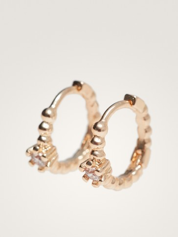 HOOP EARRINGS WITH RHINESTONE