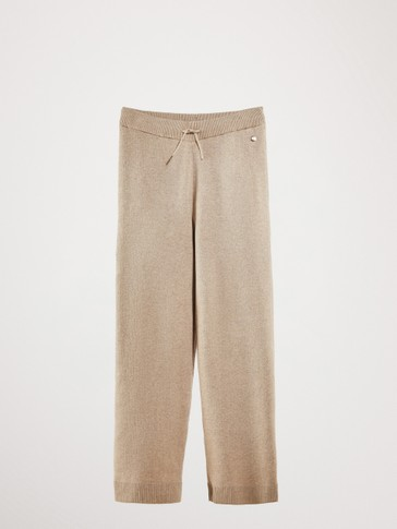KNIT COTTON TROUSERS
