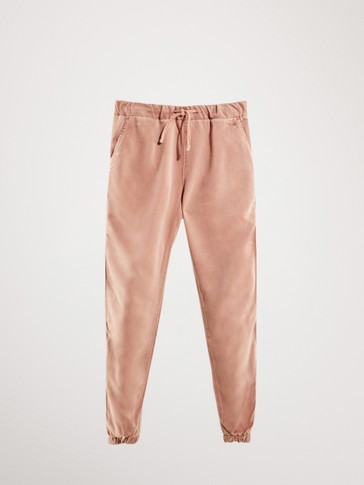 JOGGING FIT LYOCELL TROUSERS