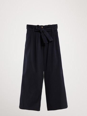 NAVY BLUE PALAZZO TROUSERS