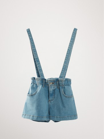 PAPERBAG DENIM BERMUDA SHORTS