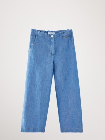 LYOCELL AND LINEN JEANS