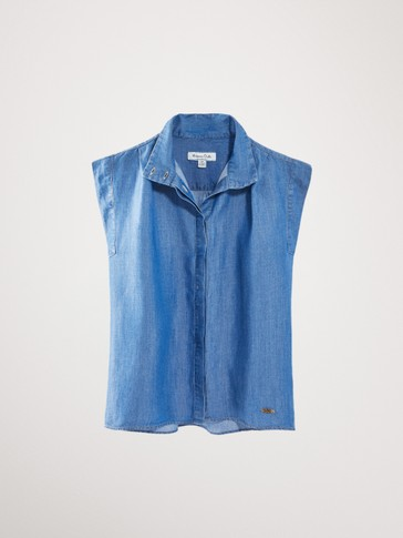 DENIM LYOCELL AND LINEN SHIRT