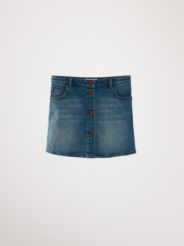 COTTON DENIM SKIRT
