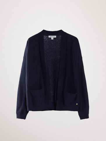 OPEN COTTON CASHMERE CARDIGAN