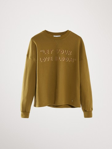 KATOENEN SWEATSHIRT LET YOUR LOVE BLOOM