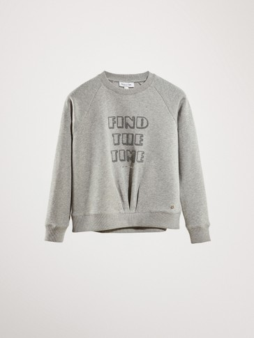 'FIND THE TIME' COTTON SWEATSHIRT