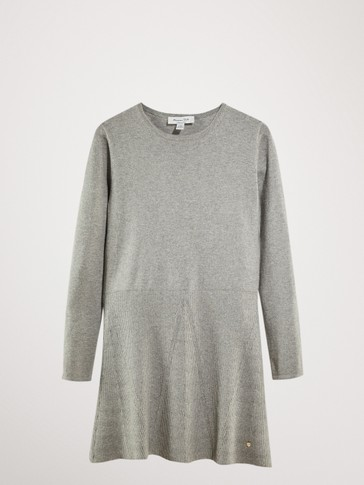 COTTON AND CASHMERE KNIT DRESS