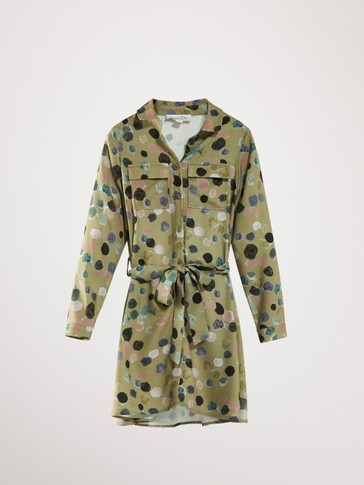 SHIRTDRESS MET PRINT