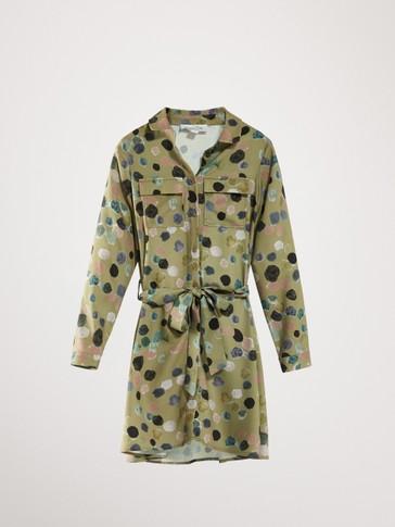프린트 셔츠 드레스