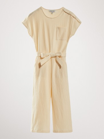 COTTON JUMPSUIT WITH BELT