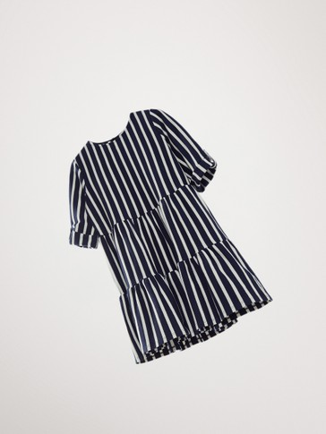 COTTON NAVY STRIPE DRESS