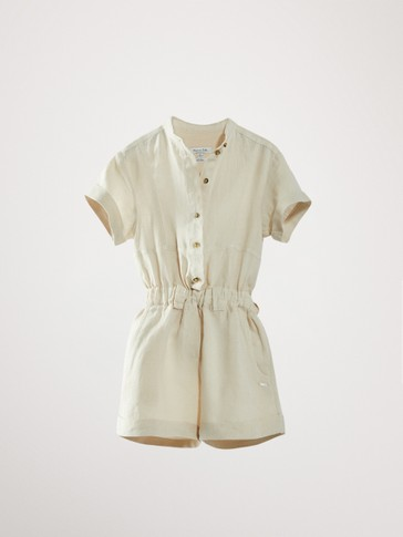 100% LINEN PLAYSUIT