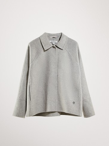 HAND-TAILORED SHORT WOOL JACKET