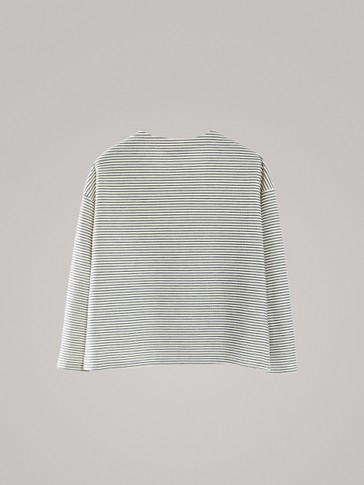 NAUTICAL STRIPE COTTON LONG SLEEVE T-SHIRT