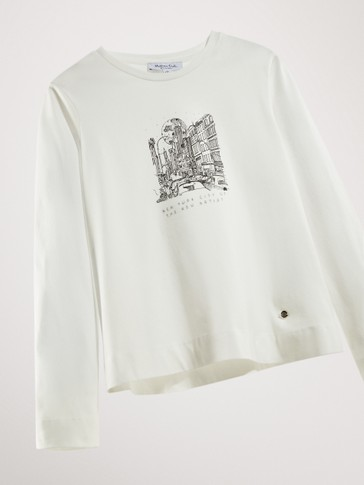 'CITY' COTTON LONG SLEEVE T-SHIRT