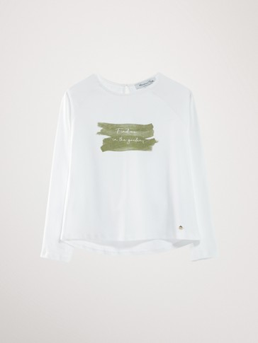 GARDEN COTTON LONG SLEEVE T-SHIRT