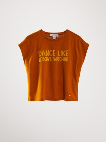 KATOENEN T-SHIRT DANCE