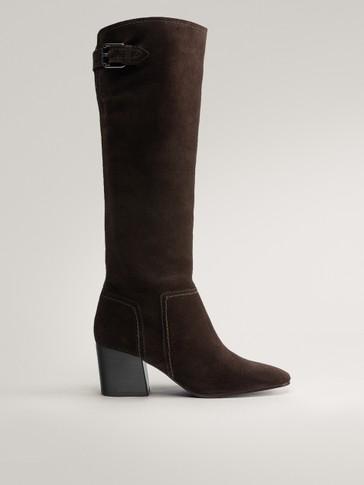 حذاء بكعب مع مشبك