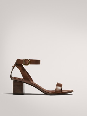 HEELED SANDALS WITH ANKLE STRAP