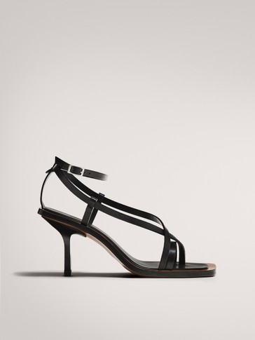 LIMITED EDITION BLACK HIGH-HEEL SANDALS