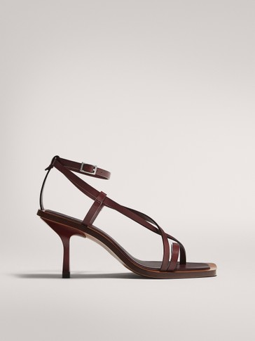 LIMITED EDITION BURGUNDY HEELED SANDALS