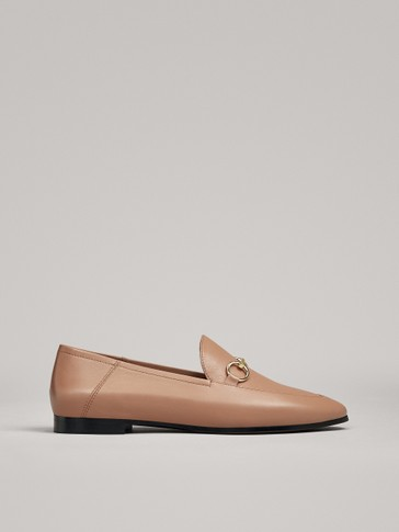 PINK LOAFERS WITH BUCKLE