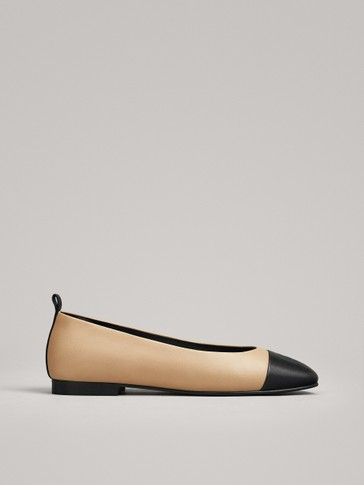 POINTED TWO-TONE BALLERINAS