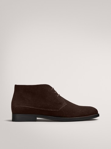 BROWN SPLIT SUEDE DESERT BOOTS