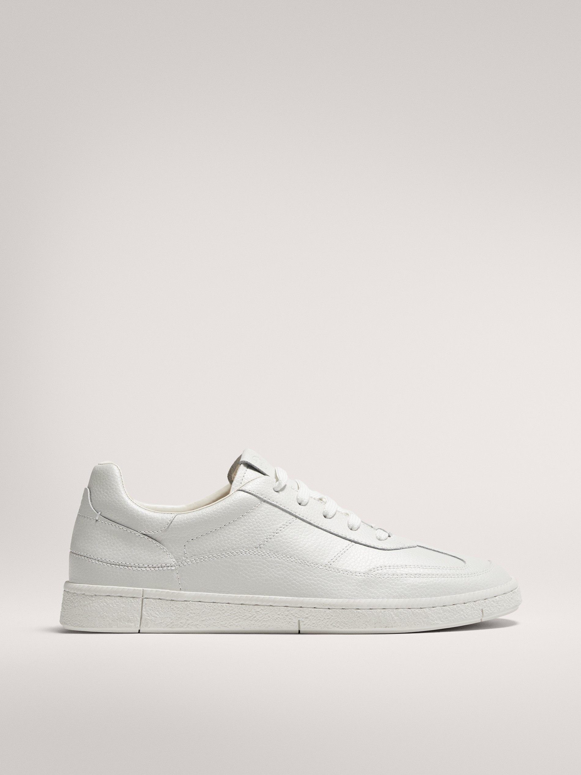 WHITE LEATHER TRAINERS - Men - Massimo