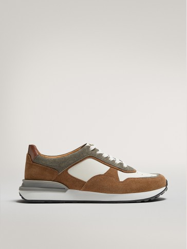 TAN LEATHER TRAINERS