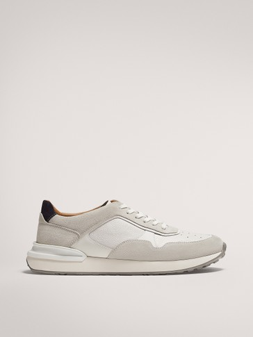 WHITE LEATHER TRAINERS - null - Massimo