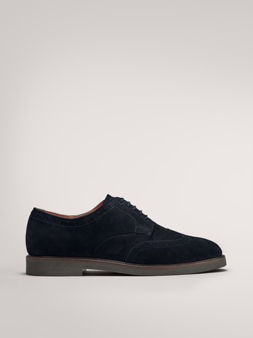 BLUE SPLIT SUEDE SHOES