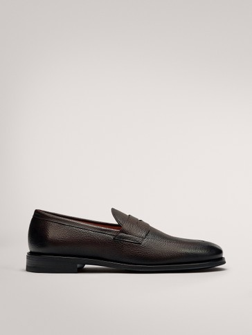 SMART BROWN LEATHER LOAFERS