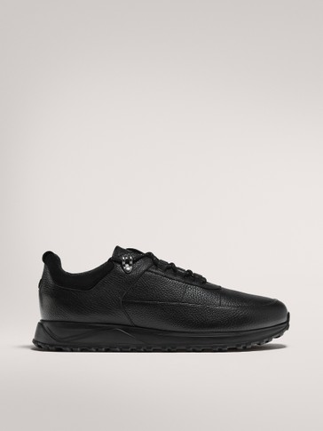 BLACK MONOCHROME TRAINERS