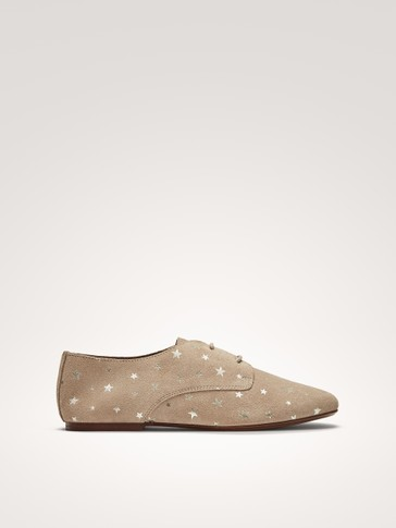 SOFT DERBY SHOES WITH STARS