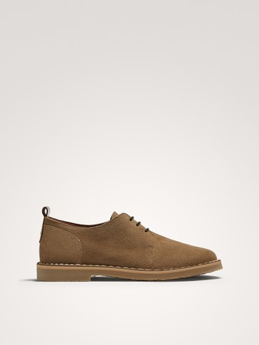 BROWN SPLIT SUEDE SHOES