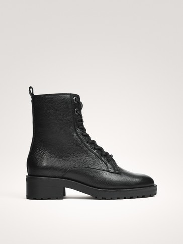 LACE-UP NAPPA BOOTS
