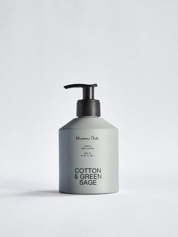(250 мл) Лосион за ръце и тяло Cotton & Green Sage