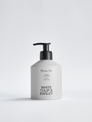 (250 ml) White Tulip & Barley liquid hand soap and body wash