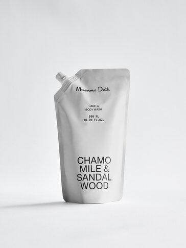 (500 мл) пълнител за почистващ гел за ръце и тяло Chamomile & Sandalwood